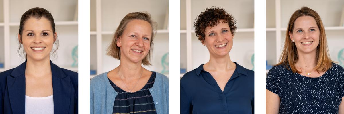 Teamfoto - sprech zeit Hilden – Logopädie Julie Reil & Team